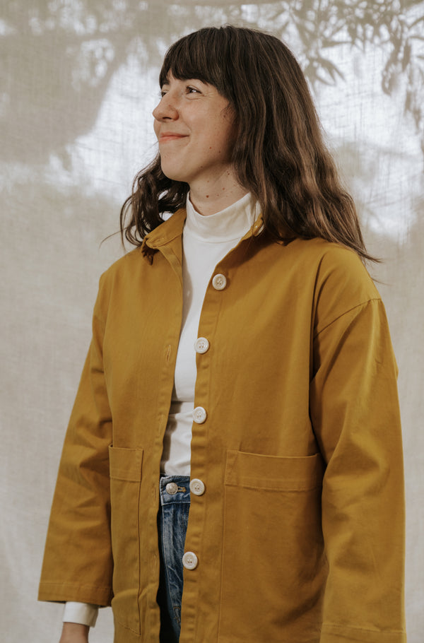 Painters Button Jacket - Foxglove