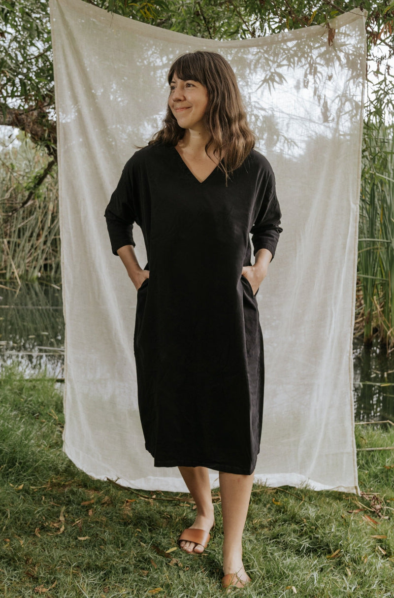 Cadence Cocoon Dress - True Black