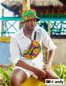 Shop African print bucket hats and bum bags