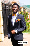 African Print Bowtie and Pocket Square  Set - AfriKandy