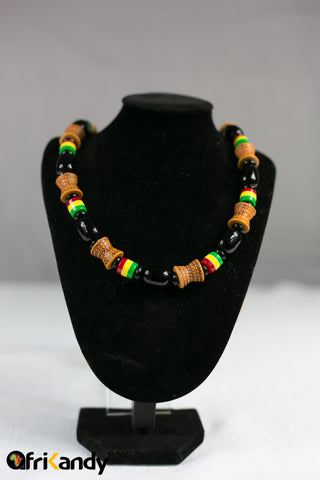 African beads necklace  and bracelet set 05 - AfriKandy