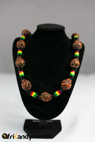 African beads necklace  and bracelet set 02 - AfriKandy