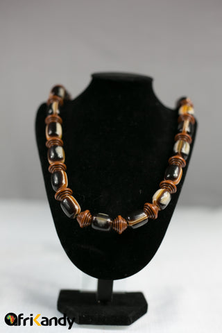 African beads necklace  and bracelet set 03 - AfriKandy
