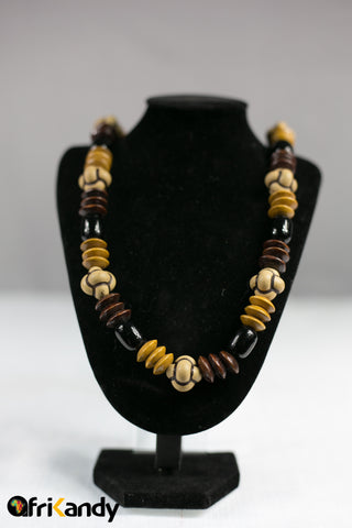 African beads necklace  and bracelet set - AfriKandy
