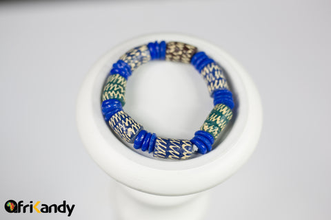 Hand Painted African Glass recycled bead bracelet - AfriKandy