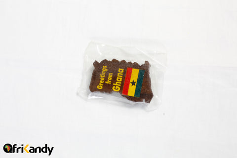 Ghana Map Fridge magnet (dark) - AfriKandy