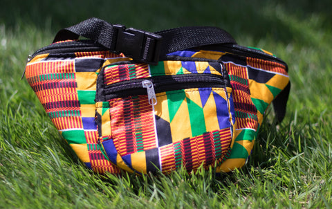 Large African Print bum bag 03 - AfriKandy