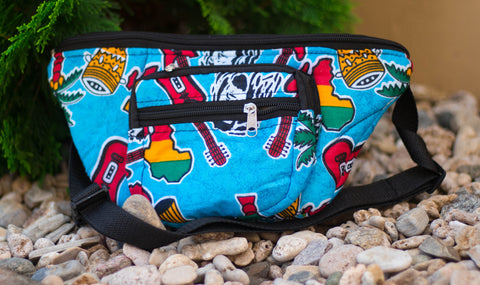 Large African Print bum bag 02 - AfriKandy