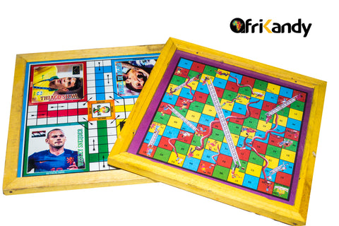 2 in 1 Ludo/Snakes & Ladders Family Game - AfriKandy