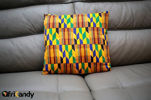 Traditional Kente Print Cushion Cover - AfriKandy