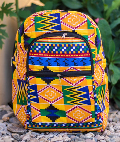 Medium African Print Backpack - AfriKandy