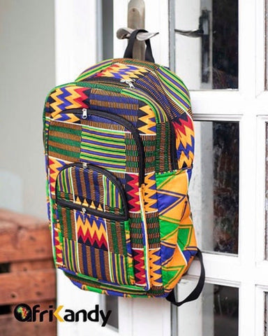Extra Large African Print Backpack - AfriKandy