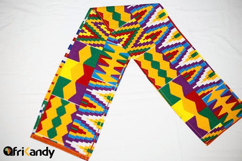 Multi-coloured Kente Headwrap - AfriKandy