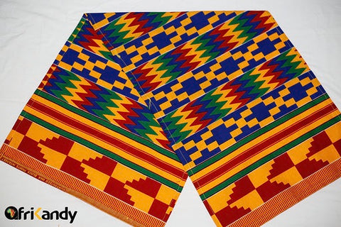 Bright Traditional Kente Headwrap - AfriKandy