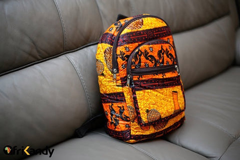 Small African Print Backpack - AfriKandy