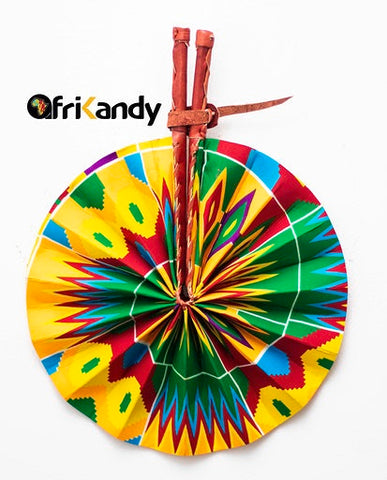 African Print Fan 05 - AfriKandy