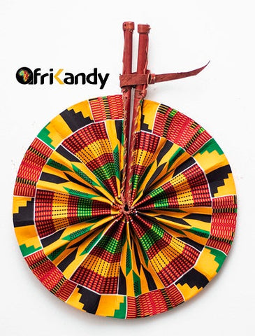 African Print Fan 12 - AfriKandy