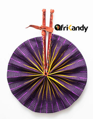 African Print Fan 08 - AfriKandy