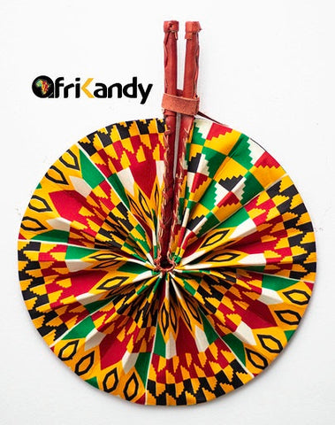 African Print Fan 16 - AfriKandy