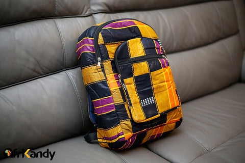 African Print Backpack - AfriKandy