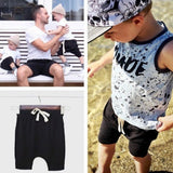 Duffle shorts kids - black