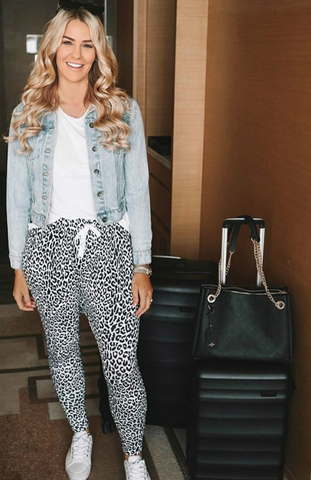 Women's mumme pants - leopard