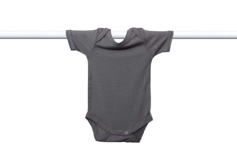 bam |+| boo short sleeve onesie - black