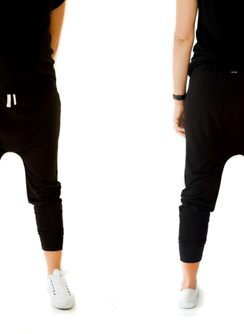 bam |+| boo mumme pants - black 'MINT' logo