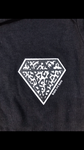 Onesie short sleeve - black - screen print DIAMOND