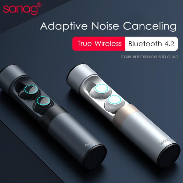[Truly Wireless] Sanag J1 Adaptive Noise Canceling Pure ANC HiFi Bluetooth Earphone With Charger Box