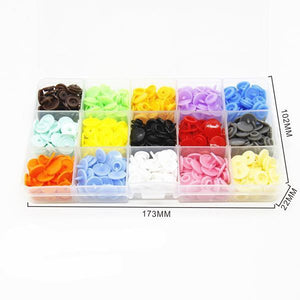150pcs 15 Colors T5 Snap Buttons and Installation tools