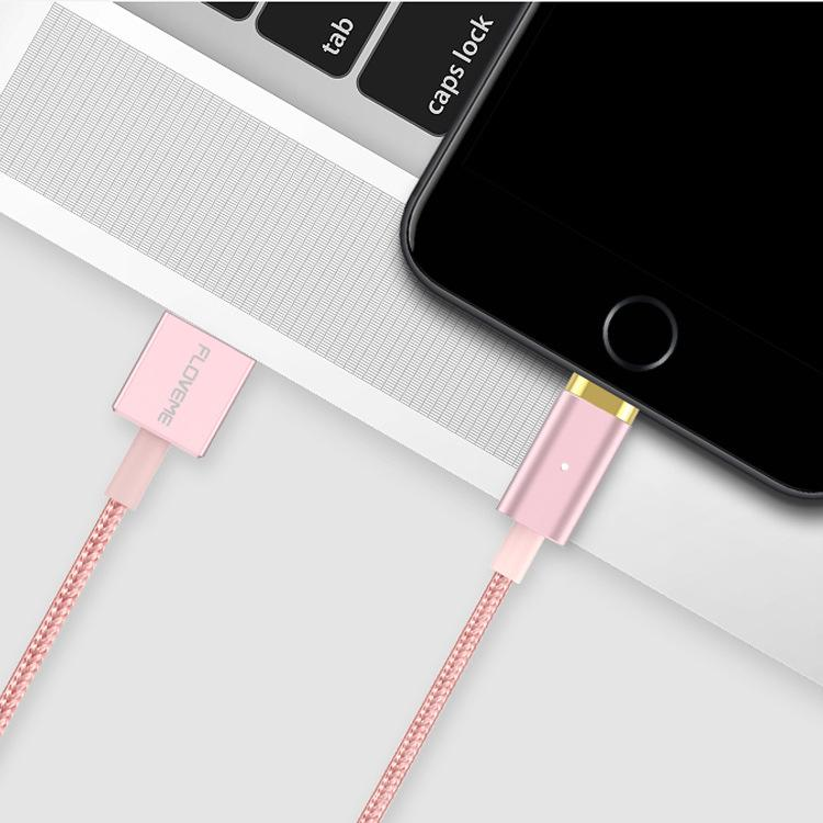 FLOVEME Magnetic USB Charging Cable 1m Micro USB Type-C Lightning for iPhone Huawei Xiaomi Samsung-Chargers & Cables-Rose gold-hykis.com