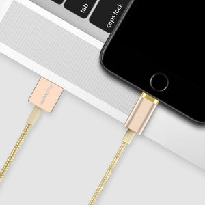 FLOVEME Magnetic USB Charging Cable 1m Micro USB Type-C Lightning for iPhone Huawei Xiaomi Samsung-Chargers & Cables-Gold-hykis.com