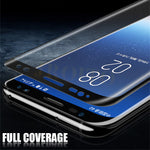 6D Full Curved 5D Tempered Glass For Samsung Galaxy S8 S9 Plus 3D Screen Protector Film S7 Edge Note 8 A6 A8 Plus Cover case