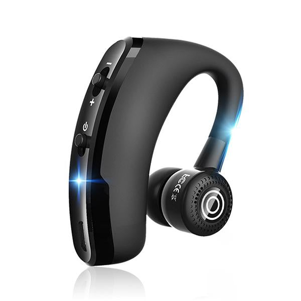 V9 Business Bluetooth Headset Rotatable In Ear Earbud Wireless Headphones Voice Prompts Noise Cancelling Handsfree Calling Stereo Earphone