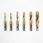6PCS 4341 M3 - M10 HSS Metric Tap Drill Bits for Machine Screw Thread
