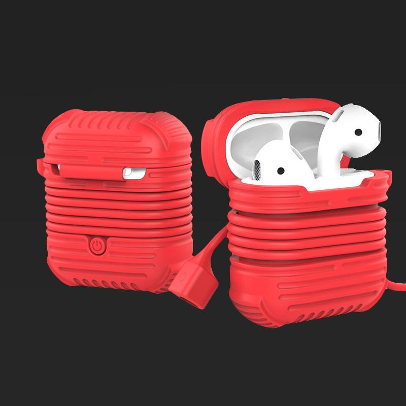 Magnetic Silicone Flexible Strap Safety Neck Strap and Shockproof Waterproof Protection Case for AirPods