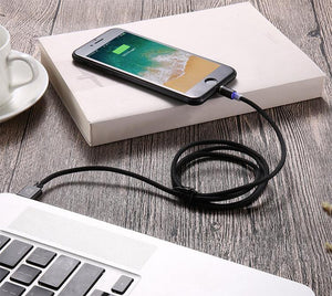 FLOVEME Type C LED Magnetic Braided Fast Charging Phone Cable 1m for Huawei Samsung Xiaomi-Chargers & Cables-hykis.com