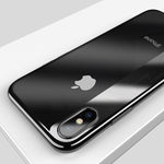 Soft Silicone Case for iPhone X iPhone 8 7 plus Luxury Plated Case for iPhone 8 6 6s plus Cover Clear Phone Capinhas New