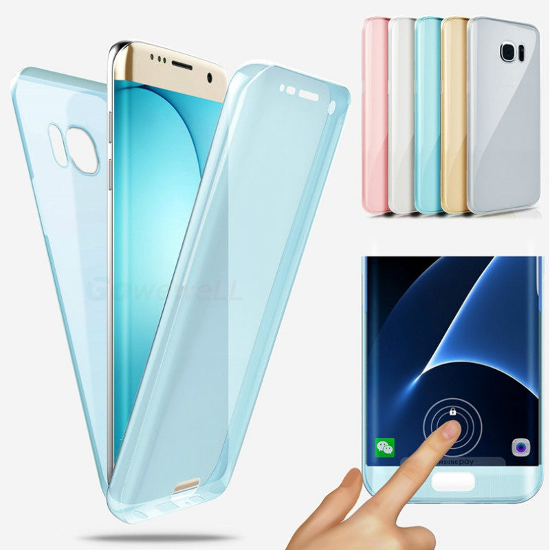 Full Body Transparent Touch Screen TPU Case For Samsung Galaxy S8 Plus