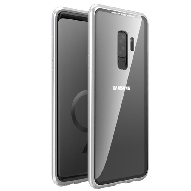 Magnetic Adsorption Flip Case for Samsung Galaxy S8 S9
