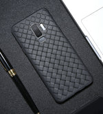 Silicone Case For Samsung Galaxy Note 9 S9 S9 Plus Cover Case Black Woven Grain Ultra Slim Breathable Phone Case
