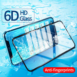 For iPhone X Glass Protector 6D Full Cover Screen For iPhone X Screen Protector Glass Soft