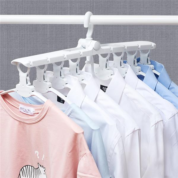 Magic folding laundry rack folding clothes hanger