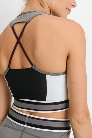 HAZEL GRAY SPORTS BRA
