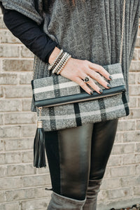 PLAID ABOUT YOU CLUTCH