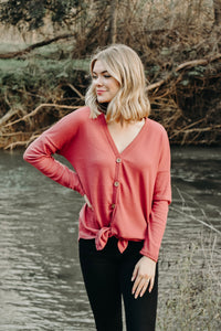 MISFIT THERMAL TOP: CORAL