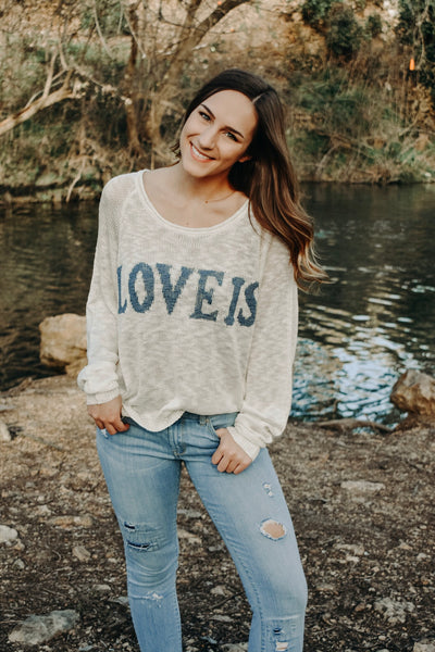 LOVE IS SWEATER