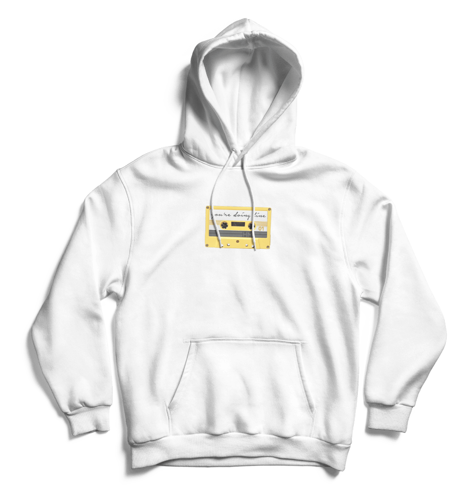 You're Doing Fine Hoodie (White)