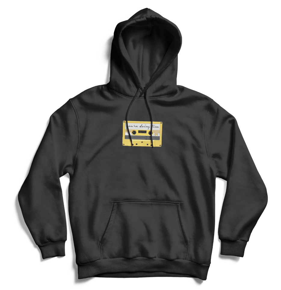 You're Doing Fine Hoodie (Black)